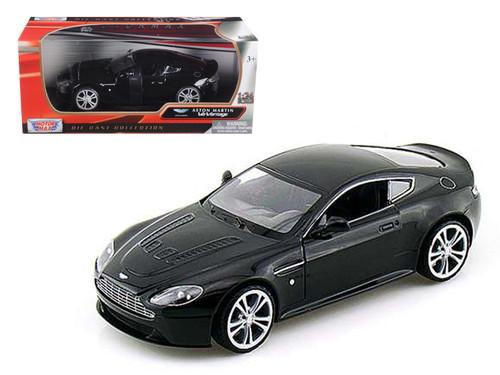 Aston Martin V12 Vantage Black 1/24 Scale Diecast Car Model By Motor Max 73357