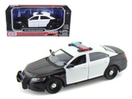 2013 Ford Police Car Interceptor Unmarked 1/24 Scale Diecast Car Model By Motor Max 76925