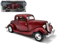 1934 Ford Coupe Red 1/24 Scale Diecast Car Model By Motor Max 73217