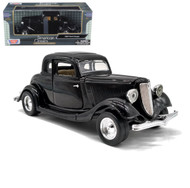 1934 Ford Coupe Black 1/24 Scale Diecast Car Model By Motor Max 73217
