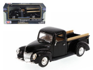 1940 Ford Pick Up Truck Black 1/24 Scale Diecast Model By Motor Max 73234
