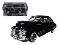 1948 Chevy Aerosedan Fleetline Metallic Black 1/24 Scale Diecast Car Model By Motor Max 73266