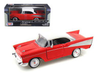 1957 Chevy Bel Air Red 1/24 Scale Diecast Car Model By Motor Max 73228