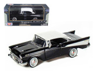1957 Chevy Bel Air Black 1/24 Scale Diecast Car Model By Motor Max 73228