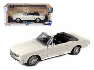1964 1/2 Ford Mustang Convertible White 1/24 Scale Diecast Car Model By Motor Max 73212