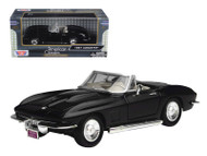 1967 Chevy Corvette Convertible Black 1/24 Scale Diecast Car Model By Motor Max 73224
