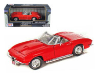 1967 Chevy Corvette Convertible Red 1/24 Scale Diecast Car Model By Motor Max 73224