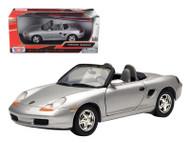Porsche Boxster Silver 1/24 Scale Diecast Car Model By Motor Max 73226