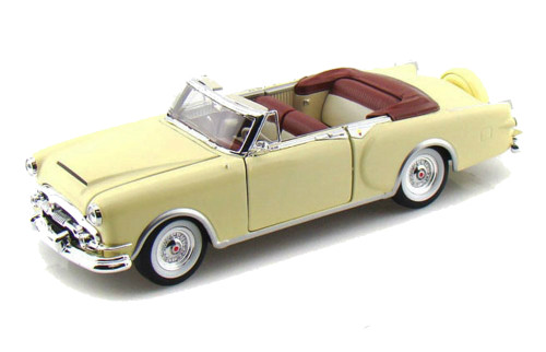 1953 Packard Caribbean Convertible Cream 1/24 Scale Diecast Car Model By Welly 24016
