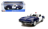 1965 Chevy Corvette Police 1/18 Scale Diecast Car Model By Maisto 31381