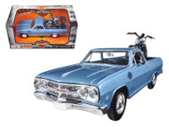 1965 Chevrolet El Camino & 2007 Harley Davidson XL 1200N Nightster Motorcycle 1/24 Scale Diecast Car Model By Maisto 32195