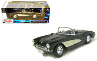 1957 Chevrolet Corvette Black 1/18 Scale Diecast Car Model By Maisto 31139
