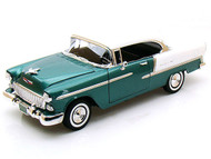1955 Chevy Bel Air Green 1/18 Scale Diecast Car Model By Motor Max 73185