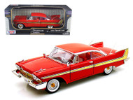 1958 Plymouth Fury Hard Top Red 1/18 Scale Diecast Car Model By Motor Max 73115
