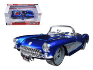 1957 Chevy Corvette Blue Custom 1/24 Scale Diecast Car Model By Maisto 31323