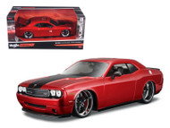 2008 Dodge Challenger SRT8 Red 1/24 Scale Diecast Car Model By Maisto 31327