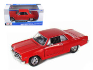 1965 Chevy Malibu SS Red 1/24 Scale Diecast Car Model By Maisto 31258