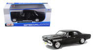 1966 Chevrolet Chevelle SS 396 Black 1/24 Scale Diecast Car Model By Maisto 31960