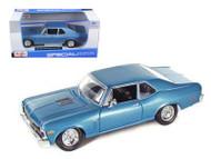 1970 Chevy Nova SS Coupe Blue 1/24 Scale Diecast Car Model By Maisto 31262
