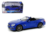 Mercedes Benz  SL 63 AMG Convertible Blue 1/24 Scale Diecast Car Model By Maisto 31503