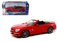 Mercedes Benz  SL 63 AMG Convertible Red 1/24 Scale Diecast Car Model By Maisto 31503