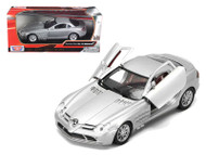 Mercedes Benz SLR McLaren Silver 1/24 Scale Diecast Car Model By Motor Max 73306