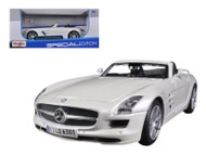 Mercedes Benz SLS AMG Roadster White 1/24 Scale Diecast Car Model By Maisto  31272
