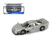 Mercedes Benz CLK GTR AMG Street Version Silver 1/26 Scale Diecast Car Model By Maisto 31949