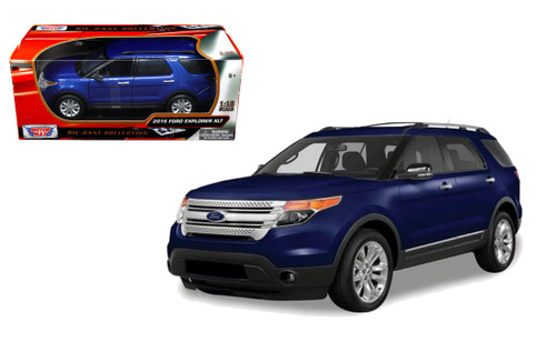 2015 Ford Explorer XLT SUV Blue 1 18 Scale Diecast Car Model By Motor Max 73186