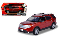 2015 Ford Explorer XLT SUV Red 1/18 Scale Diecast Car Model By Motor Max 73186