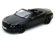 Bentley Continental SS Convertible ISR Super Sport Matt Black 1/18 Scale Diecast Car Model By Bburago 11035