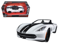 2014 Chevy Corvette Stingray White Exotics 1/24 Scale Diecast Car Model By Maisto 32501