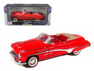 1949 Buick Roadmaster Convertible Red 1/18 Scale Diecast Car Model By Motor Max 73116