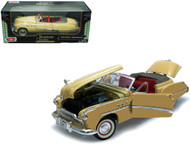 1949 Buick Roadmaster Convertible Beige Cream 1/18 Scale Diecast Car Model By Motor Max 73116
