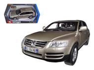 Bburago 1/18 Scale VW Volkswagen Touareg Beige Diecast Car Model 12002