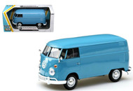Volkswagen Type 2 T1 Delivery Van Bus Dove Blue 1/24 Scale Diecast Model By Motor Max 79342
