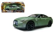 2008 Nissan GT-R Matt Green 1/24 Scale Diecast Car Model By Motor Max 79506