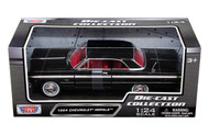 1964 Chevy Impala Black 1/24 Scale Diecast Car Model By Motor Max 73259