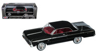 1964 Chevrolet Impala Black 1/24 Scale Diecast Car Model By Motor Max 73259