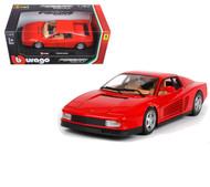 Ferrari Testarossa Red 1/24 Scale Diecast Car Model By Bburago 26014