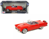 1956 Ford T-Bird Thunderbird Red 1/18 Scale Diecast Car Model By Motor Max 73173
