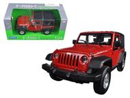 2007 Jeep Wrangler Red 1/24 Scale Diecast Car Model By Welly 22489