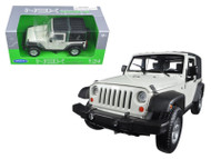2007 Jeep Wrangler White 1/24 Scale Diecast Car Model By Welly 22489