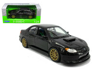 Subaru Impreza WRX STi Black 1/24 Scale Diecast Car Model By Welly 22487