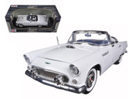 1956 Ford T-Bird Thunderbird White 1/18 Scale Diecast Car Model By Motor Max 73173