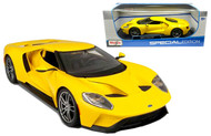 2017 Ford GT Yellow 1/18 Scale Diecast Car Model By Maisto 31384