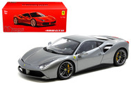 Ferrari 488 GTB Grey Signature Series 1/18 Scale Diecast Car Model By Bburago 16905