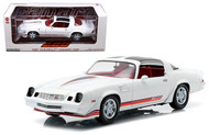 Greenlight 1/18 1981 Chevy Camaro Z28 T-Topps White Diecast Car Model 12906