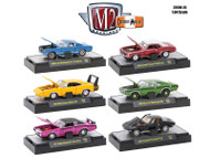 M2 MACHINES SET OF 6 DETROIT MUSCLE RELEASE 35 IN ACRYLIC CASES 32600-35