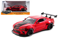 2016 Chevy Camaro SS Wide Body With GT Wing Red 1/24 Scale Diecast Car Model By Jada 98136